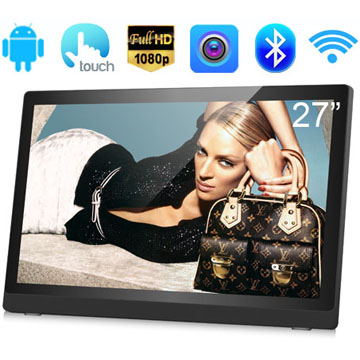 27 Inch Digital Signage With RK3188(RK3288) Quad Core FULL HD 1080P LCD Capacitive Touch Screen Android 5.1