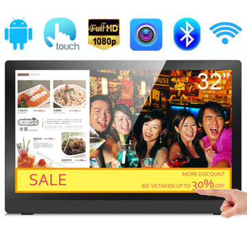32 Inch RK3188(RK3288) Quad Core FULL HD 1080P LCD Android All In One Capacitve Touch Screen Kiosk